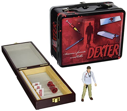 Dexter Tin Tote with Blood Slide Box with Action Figurine