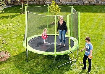Trampolín De Jardín Trampolín Al Aire Libre incluida red de seguridad Guía 366 cm 12 ft VERDE