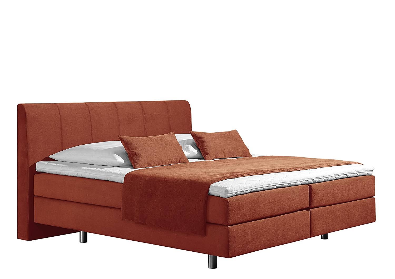 Maintal Betten 237421-4172 Boxspringbett Montepellier 180 x 200 cm, Strukturstoff terra