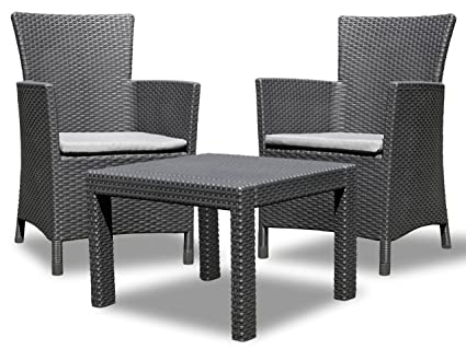 Allibert 219992 - Set de mesa y silla de exterior