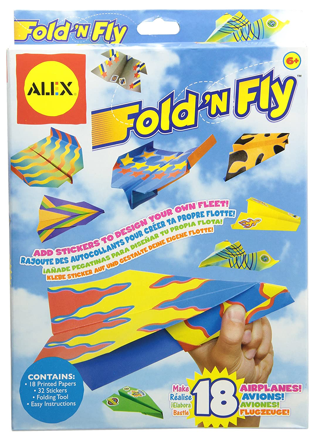 Paper Folding Game Fold n Fly Paper Airplanes Kit