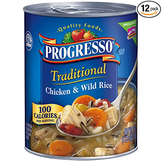 Progresso Traditional Soup, Chicken and Wild Rice, 19-Ounce Cans (Pack of 12)
