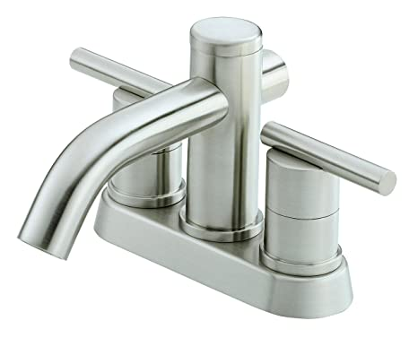 Danze D301158BN Parma Two Handle Centerset Lavatory Faucet, Brushed Nickel