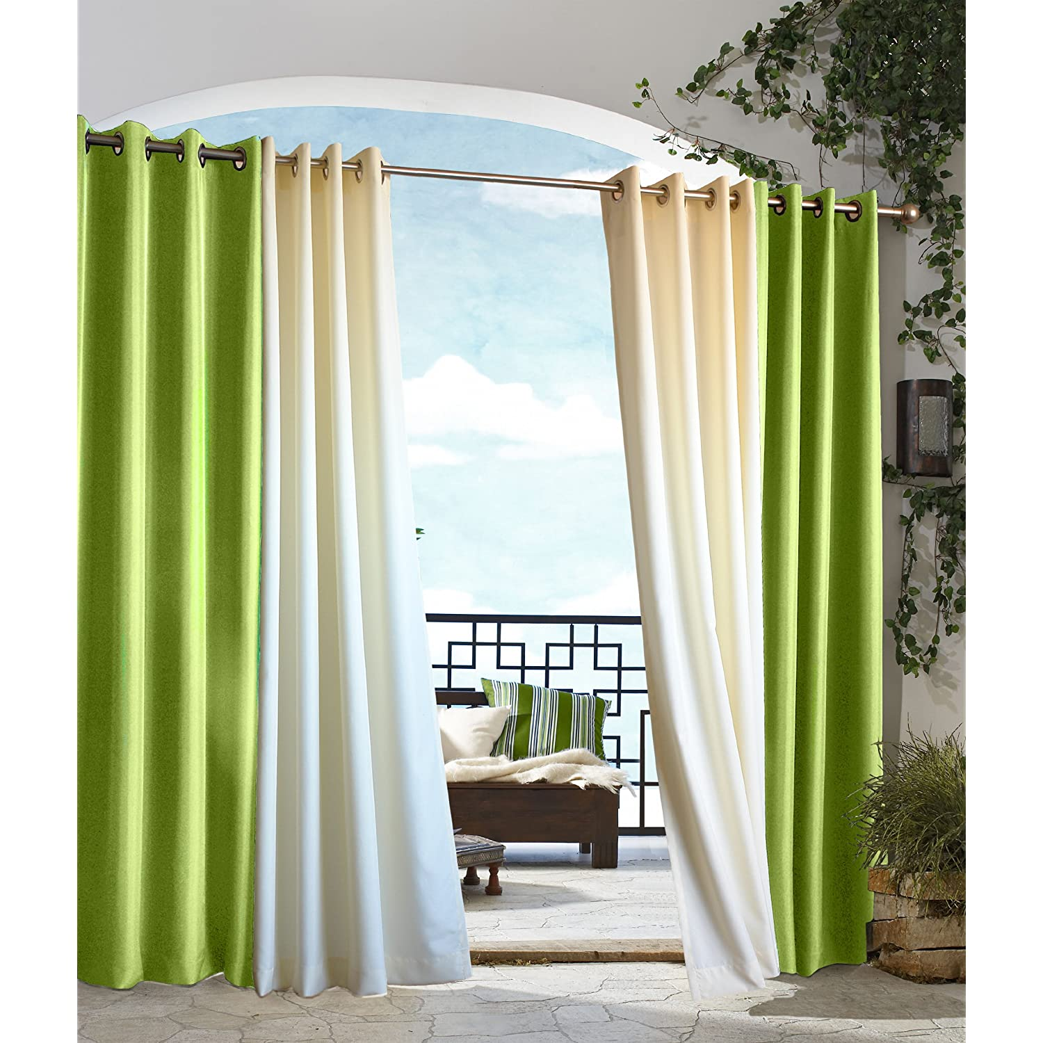 Commonwealth Home Fashions Gazebo Outdoor Solid Grommet Top Curtain Panel in Green at Sears.com