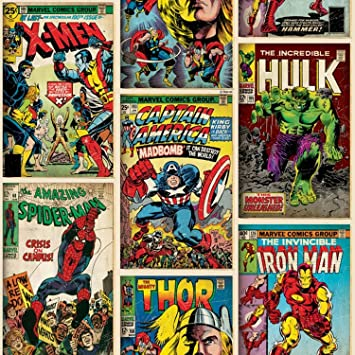 Amazon.com: Marvel Comics Action Heroes Wallpaper: Toys & Games