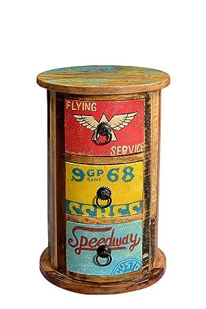 Sit-Möbel 5757-98 cómoda de Speedway, 30 x 46 cm, reciclado madera vieja, pintada de varios coloures