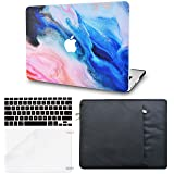LuvCase 4 in 1 Bundle Rubberized Hard Shell Case with Sleeve, Keyboard Cover and Screen Protector Compatible MacBook Pro 15 Touch Bar Case A1990/A1707 2019/2018/2017/2016 (Oil Paint 4) (Color: Oil Paint 4 with Sleeve, Keyboard Cover and Screen Protector, Tamaño: A1990/A1707 Pro 15