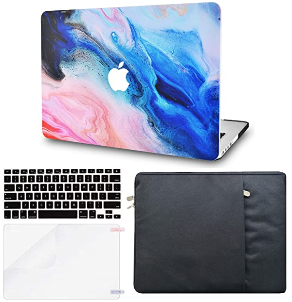 LuvCase 4 in 1 Hard Shell Case with Sleeve, Keyboard Cover and Screen Protector Compatible MacBook Old Pro 13 Case Retina A1502/A1425, Released 2015/2014/2013/end 2012 (Oil Paint 4) (Color: Oil Paint 4 with Sleeve, Keyboard Cover and Screen Protector, Tamaño: A1502/A1425 Old Pro 13 Retina (2015))