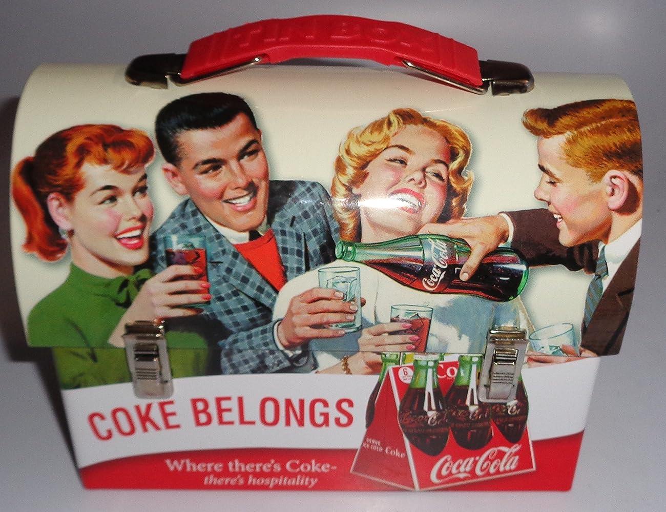 Coca Cola Retro Dome Shapped Tin Lunch Box 1