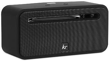 KitSound Ignite Haut Parleur Universel Sans Fil avec Connexion Bluetooth Compatible avec tous les iPhones, iPads, iPods, Samsung, Nexus, BlackBerry, Nokia, Windows 8 et Nexus - Noir