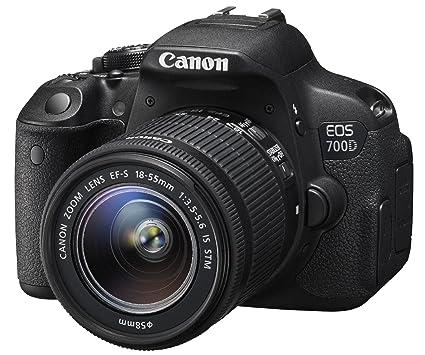 Canon 700D + EF-S 18-55mm f/3.5-5.6 IS STM Appareil Photo Numérique Compact 18 Mpix Noir