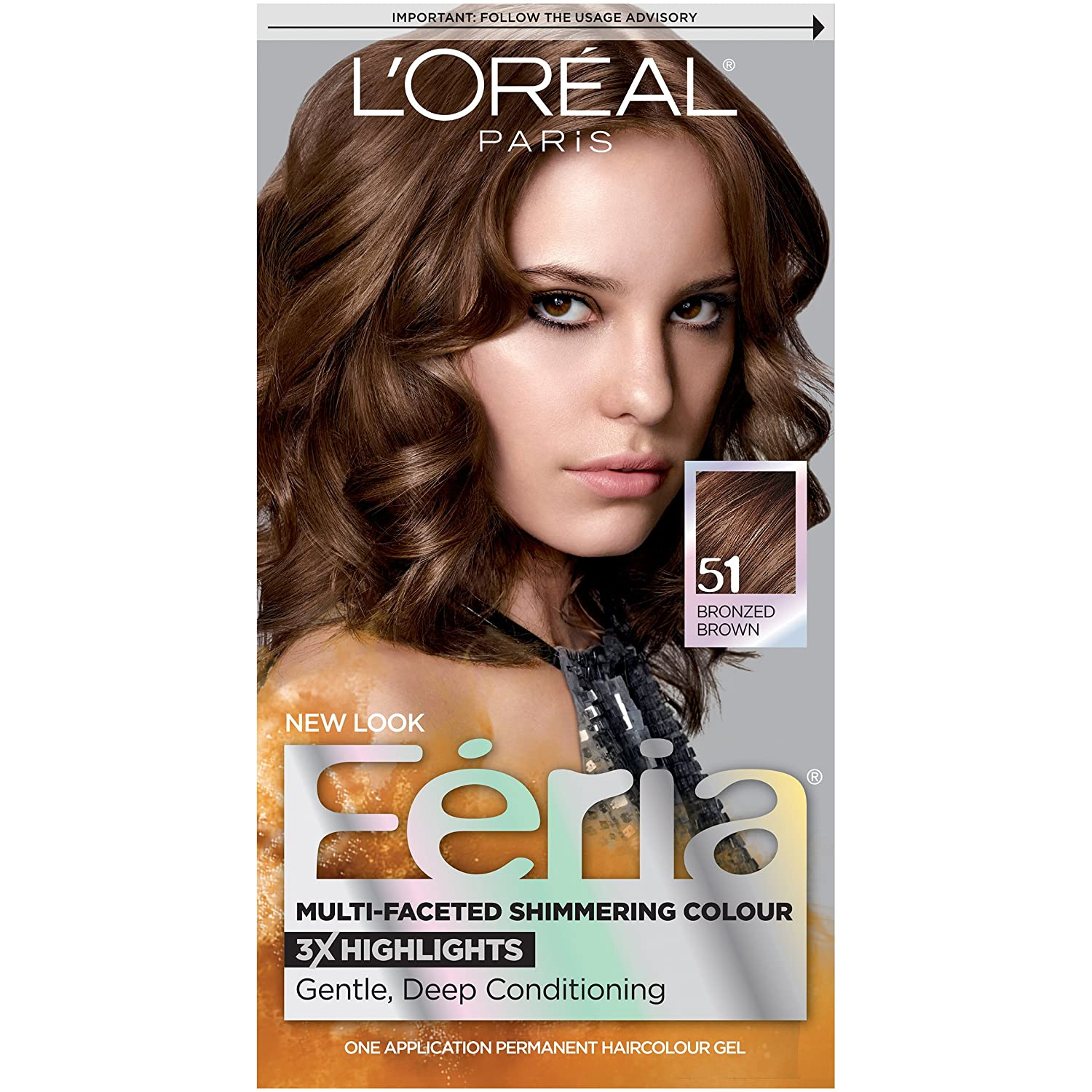 Buy L'Oreal Feria Haircolor Bronzed Brown 51 Online at Low Prices ...