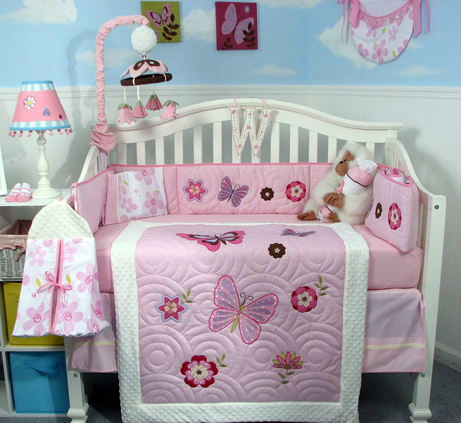 Soho Designs Butterflies Breeze Crib Bedding