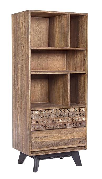 Bizzotto Emira Libreria 2C-3P, Legno, Marrone, 67.2 x 40 x 158.2 cm