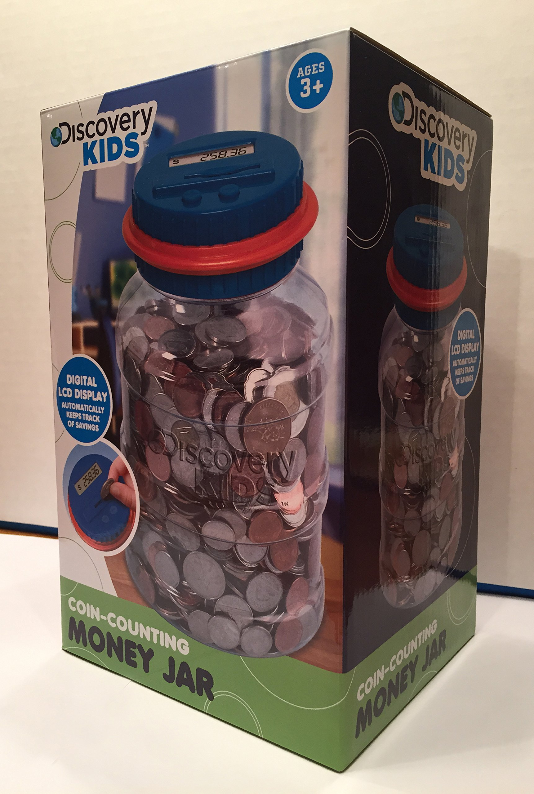 Discovery kids coin counting money jar electronic bank digital coin counter b ebay - Coin bank that counts money ...