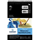 Canson Montval Watercolor Pad, Cold Press Acid Free French Paper, Top Wire Bound, 140 Pound, 5.5 x 8.5 Inch, 12 Sheets (Color: 0, Tamaño: 5.5