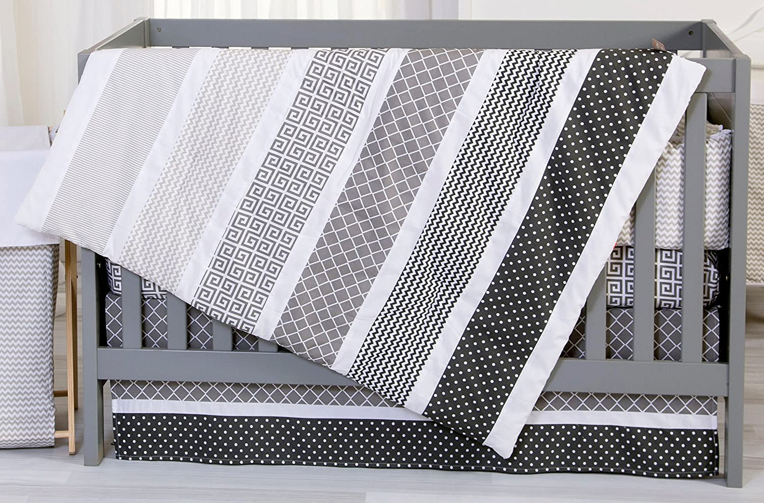 Trend Lab Ombre Gray Baby Bedding