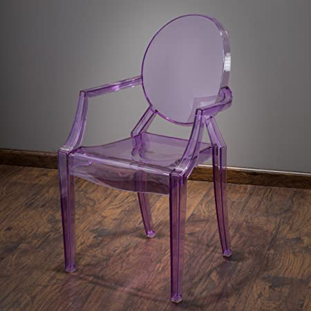 Cayden Transparent Purple PC Ghost Armchair