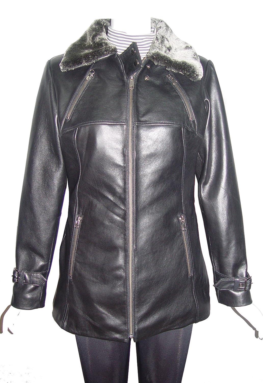 Nettailor 4181 tailliert beste sauber k¨¹hlen Leder lang Jacken damen Clothing online bestellen
