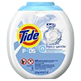 Tide PODS Free & Gentle HE Turbo Laundry Detergent Pacs 81-load Tub (Color: White, Tamaño: 81 Count)