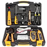 InstallerParts 15 Piece Network Installation Tool Kit – Includes LAN Data Tester, RJ11/45 Crimper, 66 110 Punch Down, 20-30 Gauge Wire Stripper, Utility Knife, 2 in 1 Screwdriver, and Hard Case (Color: Multi, Tamaño: 15 Piece)