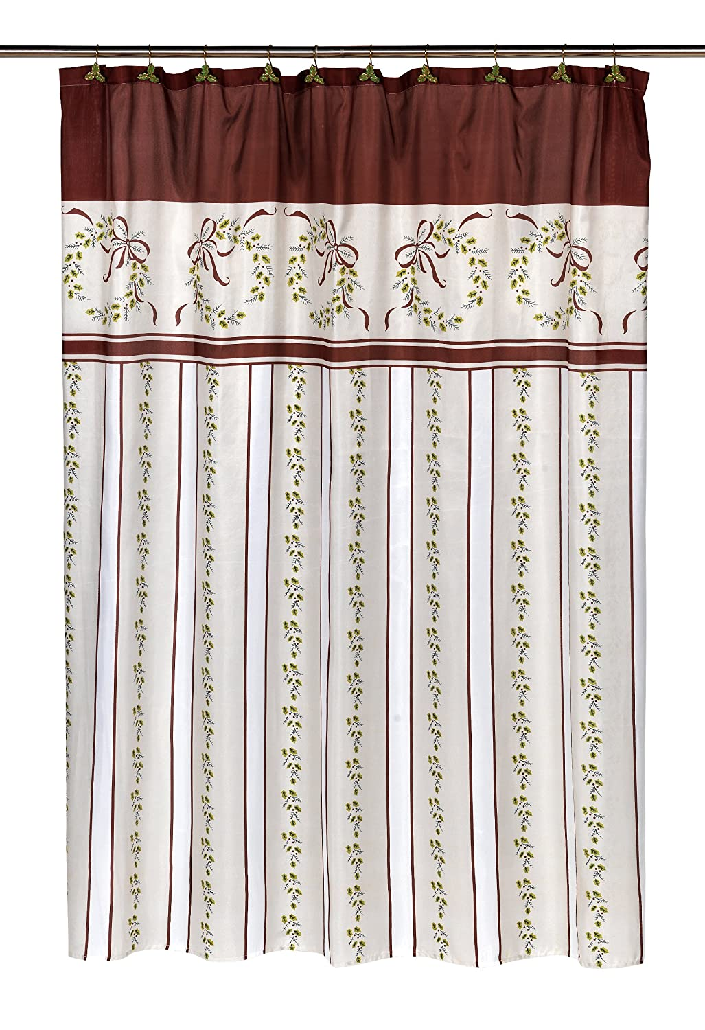 Carnation Home Fashions Fabric Shower Curtain Carnation Home Fashions quot