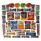 OxBox Care Package of Ultimate Sampler Mixed Bars, Cookies, Chips, Candy Snacks for Office, Meetings, Schools, Friends & Family, Military, College, Fun Variety Pack (OxBox 46)