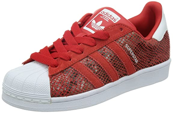 adidas women 39 s superstar w red white. Black Bedroom Furniture Sets. Home Design Ideas