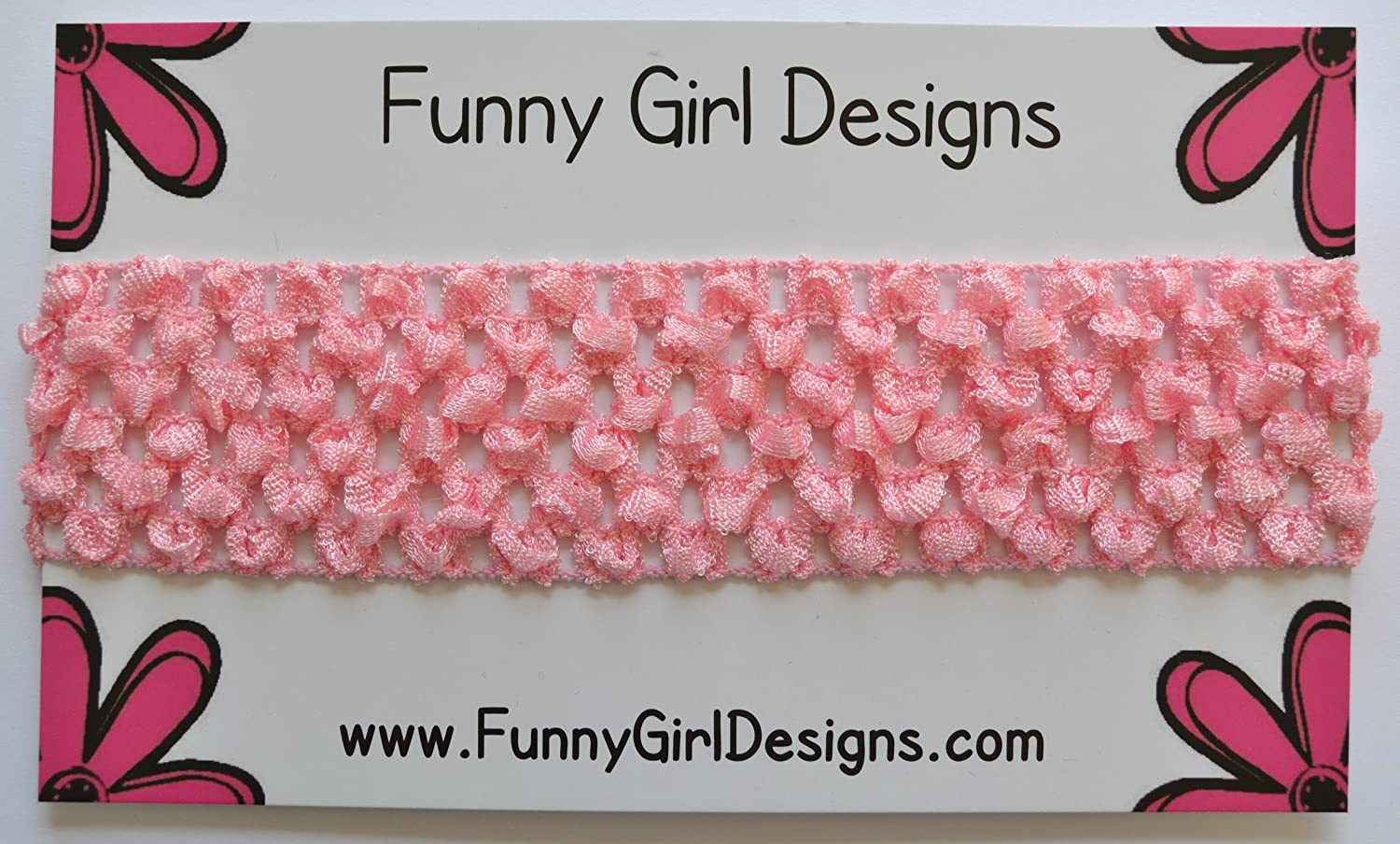 Funny Girl Designs 1.5 inch Baby Crochet Headband - Recommended Ages: Newborn to 4 years