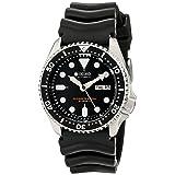 Seiko SKX007J1 Analog Japanese-Automatic  Black Rubber Diver's Watch (Color: black)