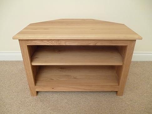 Mobile porta TV ad angolo in legno di pino, supporto o mobile, 750 mm, con mensola regolabile, adatto per il soggiorno