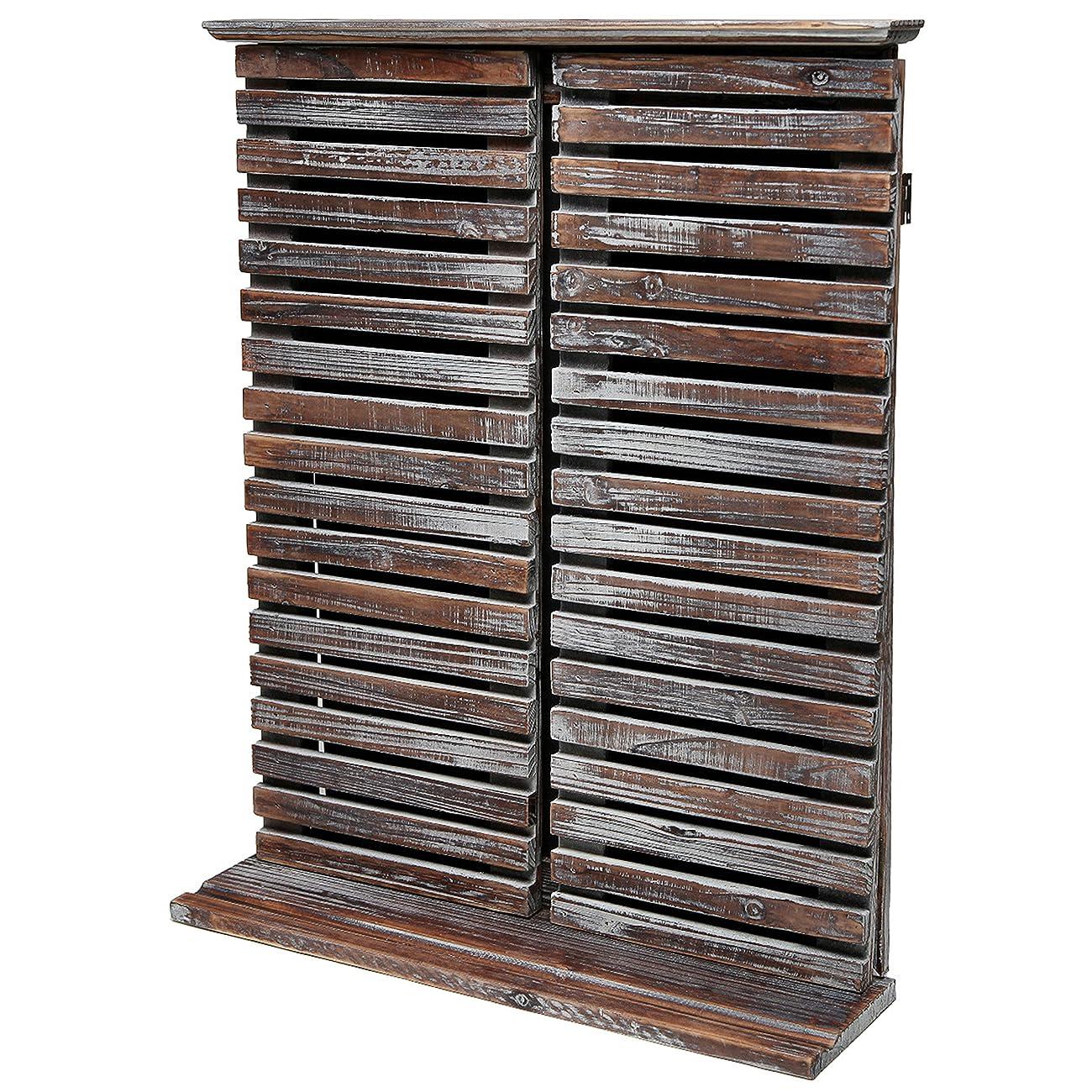 Rustic Vintage Wood Standing Chalkboard / Wall Mounted Blackboard w/ Folding Shutter Doors - MyGift® 3