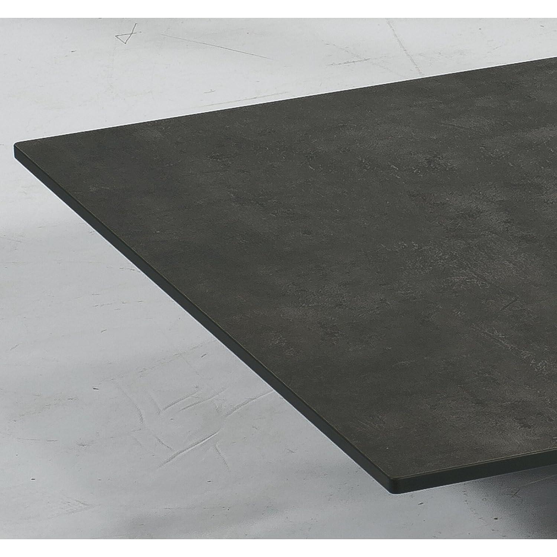 Sonnenpartner Tisch Base Gestell Alu anthrazit Platte HPL beton dunkel 90×90 cm kaufen