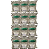 SNL Quality Sterile Specimen Cups, Screw-on Cap, Individually Wrapped, 4oz., Green Cover - Pack of 12