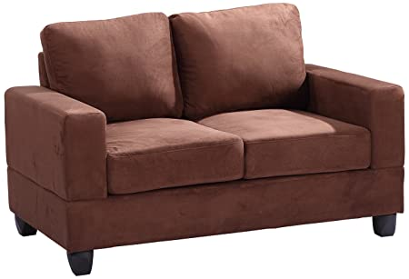 Glory Furniture G302A-L Living Room Love Seat, Chocolate