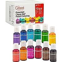 Good Cooking Food Coloring Liqua-Gel Bottles - 12 Color Variety Kit (20ml)