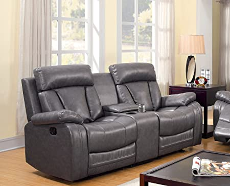 Furniture of America Kerry Recliner Love Seat with Power-Assist System