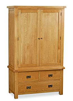 Global Home Products Collection 27 Gents 3 Drawer Wardrobe, Wood, Brown