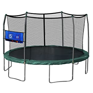 Skywalker Oval Trampoline and Enclosure with Wind Stakes, 17-Feet