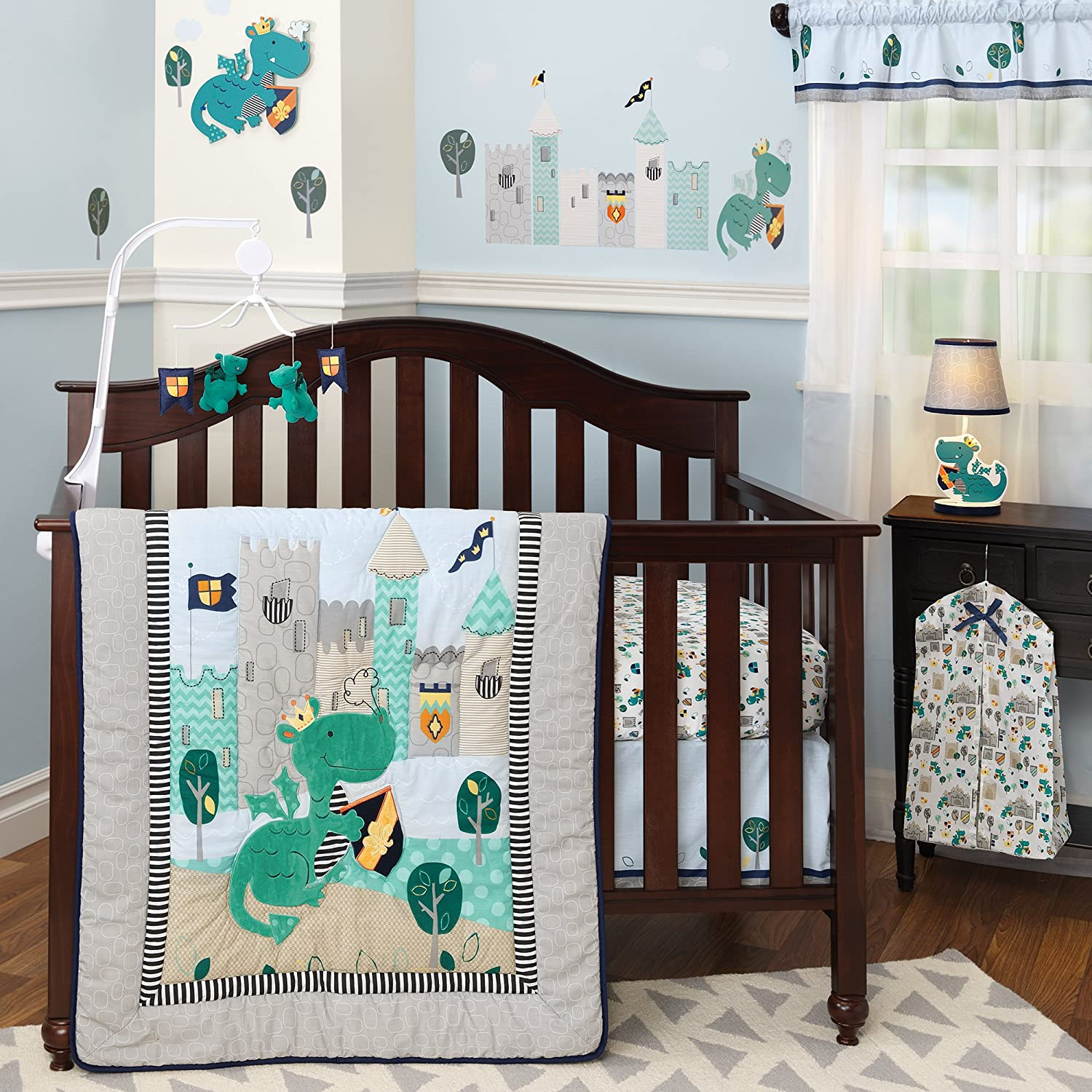 Dragon Crib Bedding Set Infant Baby Quilt Sheet Dust