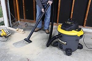 WORKSHOP Wet Dry Vac WS1200VA Heavy Duty General Purpose Wet Dry Vacuum Cleaner, 12-Gallon Shop Vacuum Cleaner, 5.0 Peak HP Wet And Dry Vacuum