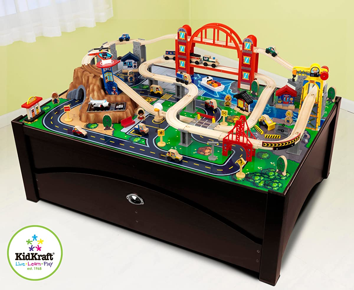 Metropolis Train Table & Set