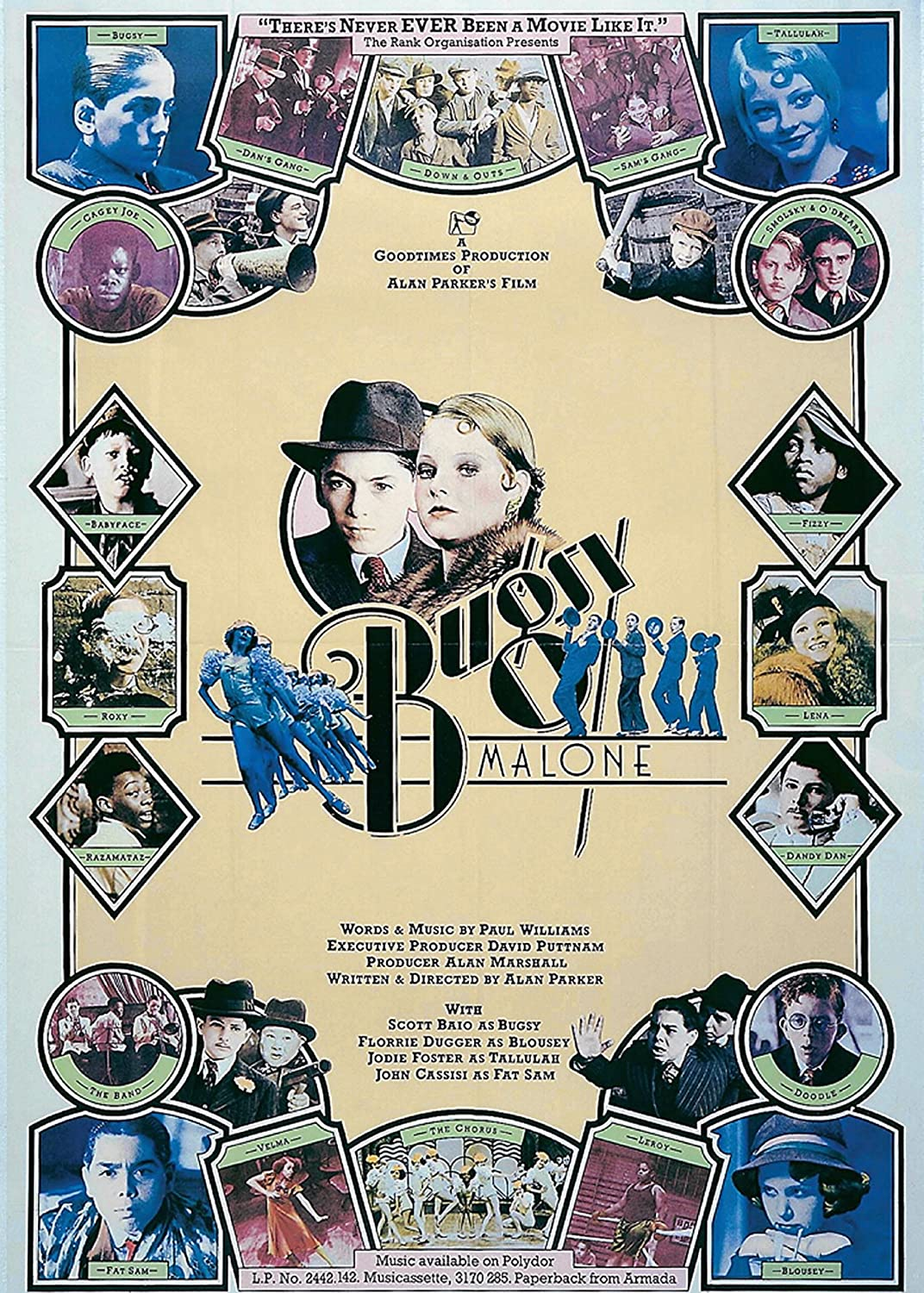 Bugsy Malone Poster Bugsy Malone Movie Poster