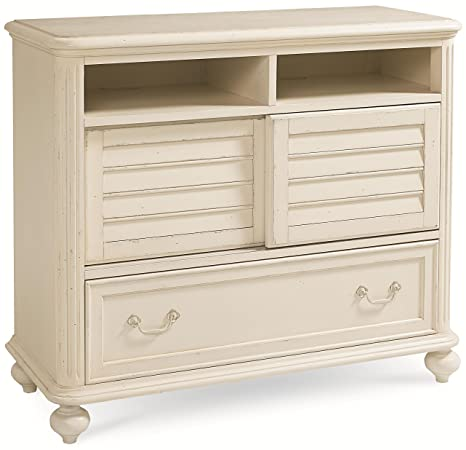 Legacy Classic Haven Media Chest in Buttercream White