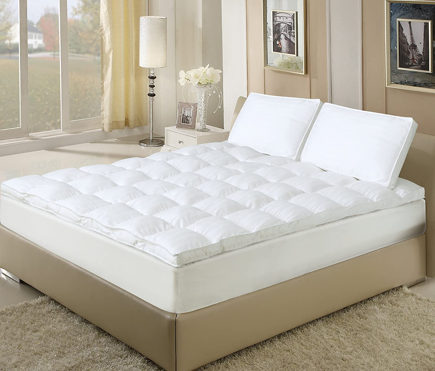 1 best fiberbed down alternative mattress topper reviews for Best down mattress pad