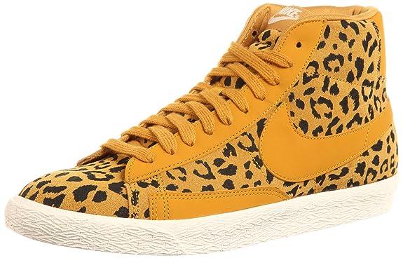 Nike Blazer High Shoes Women Running Shoe Print Gold White .