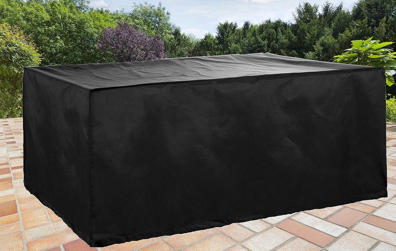 Gartenmöbel Abdeckplane für Tische 128x194x70 schwarz Hochwertiger Wetterschutz günstig online kaufen