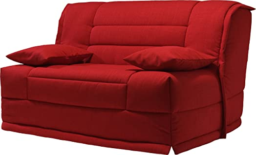 Divano Bz tessuto Melange Rosso Materasso 160X 200sofaconfort schiuma