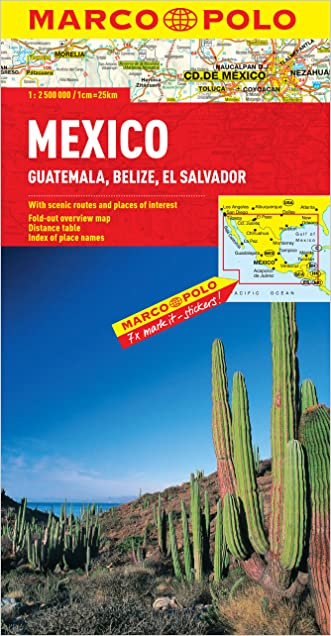 Mexico, Guatemala, Belize, El Salvador Map (Marco Polo Maps)