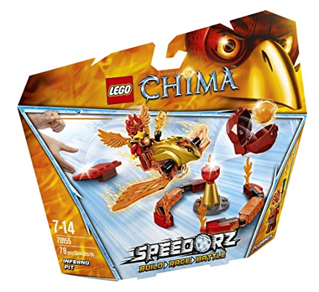 LEGO Legends Of Chima-speedorz - 70155 - Jeu De Construction - Fluminox - Challenge - La Tour De Feu